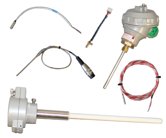 thermocouple and pt100 sensors